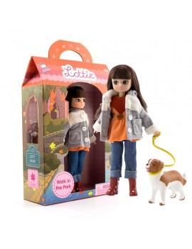 Lottie pop met hond - Lottie Walk in the Park