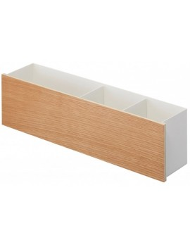 Opberger wit metaal met hout - Organizer Box - Yamazaki