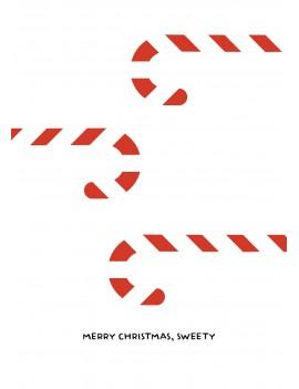 Merry Christmas sweety set van 8 kerstkaarten met omslagen - Lacarta