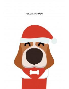 Feliz navidog hond kerstkaart set van 8 kerstkaarten met omslagen - Lacarta