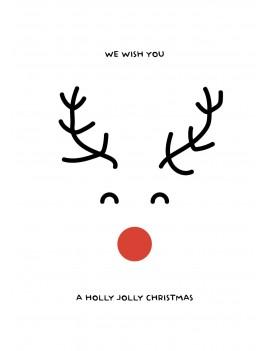 Have a holly jolly kerstkaart set van 10 kerstkaarten met omslagen - Lacarta