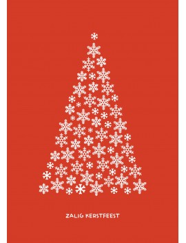 Kerstkaart met sneeuwvlokken set van 10 kerstkaarten met omslagen - Lacarta