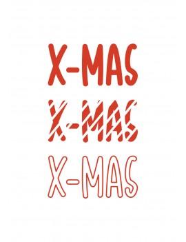 X-mas kerstkaart set van 10 kerstkaarten met omslagen - Lacarta