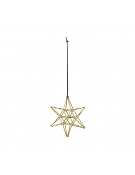 kersthanger Double Gold Star - Bloomingville
