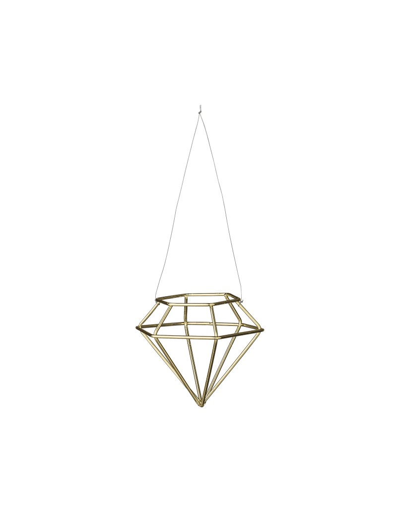 kersthanger Diamondshape Gold - Bloomingville