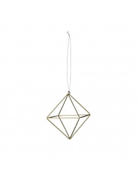 kersthanger Oblong Cube Gold - Bloomingville