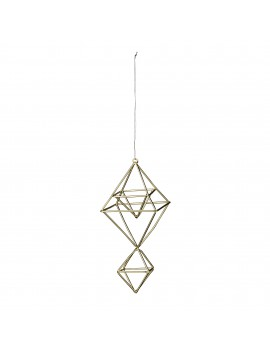 kersthanger Double Cube Gold - Bloomingville