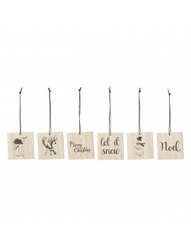 cadeaulabels set Nature Wood - Bloomingville