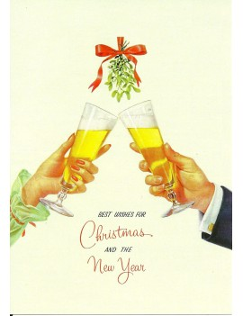 kaart 'Best Wishes for Christmas and the New Year'
