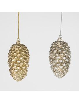 Kerstdecoratie sparappel zilver - Sass & Belle