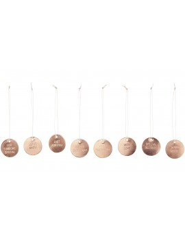 metaal hangertjes set Greetings Copper - House Doctor