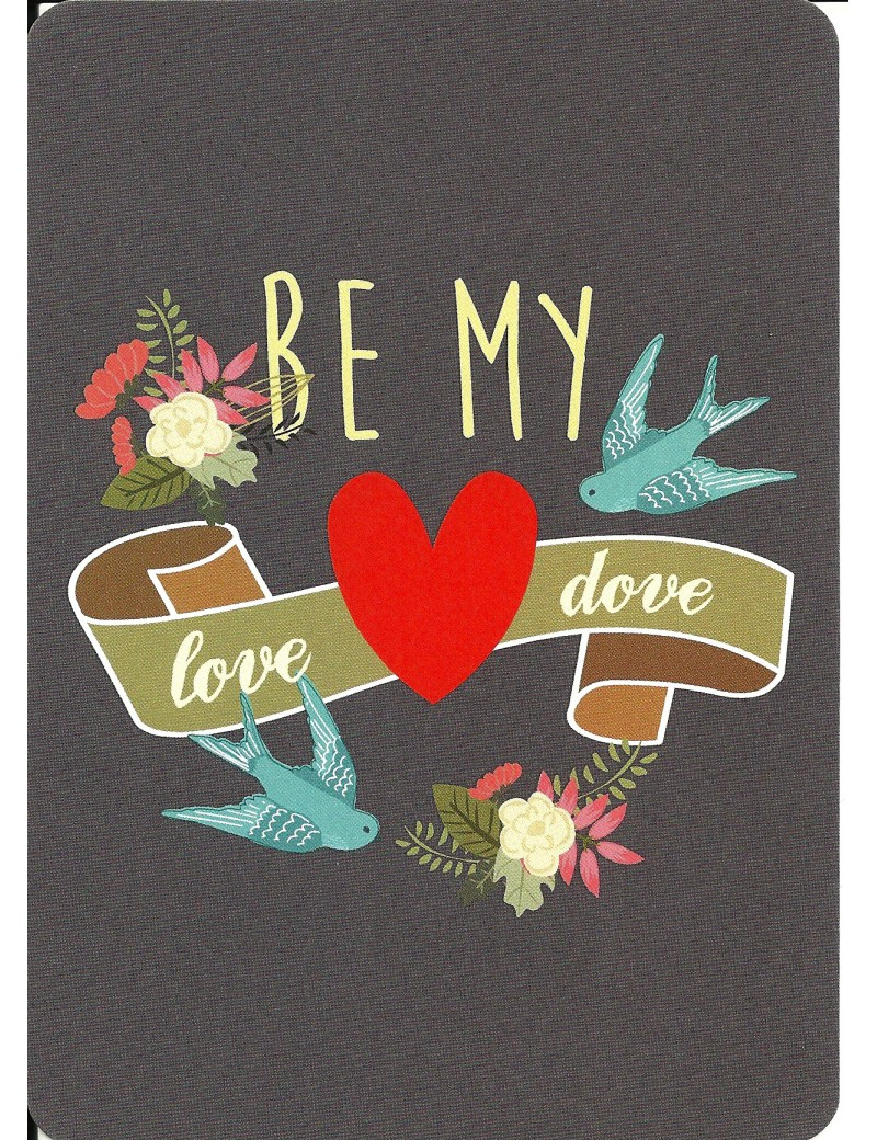 kaart 'Be My Love Dove'