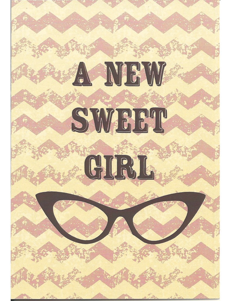 kaart 'A new sweet girl'