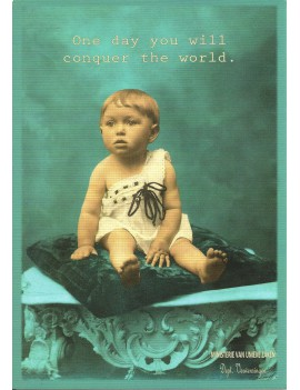 kaart 'One day you will conquer the world'