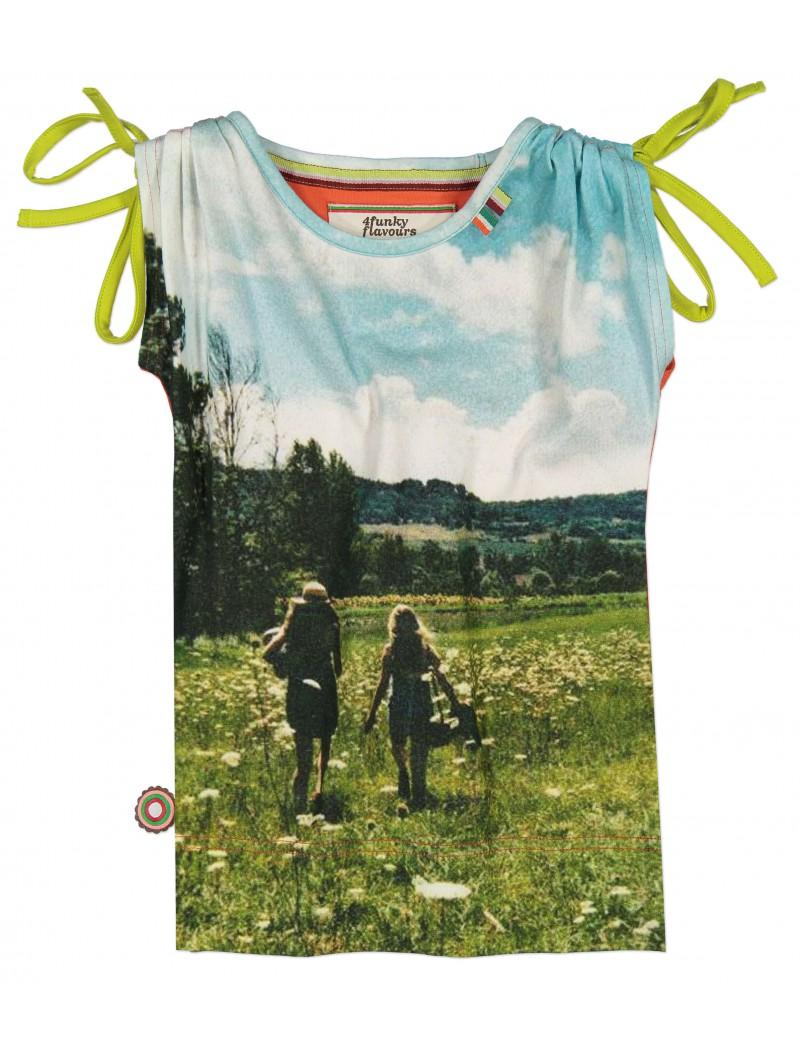 t-shirt 'Fields of Joy' - 4 Funky Flavours