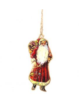 metaal kerstdecoratie Santa