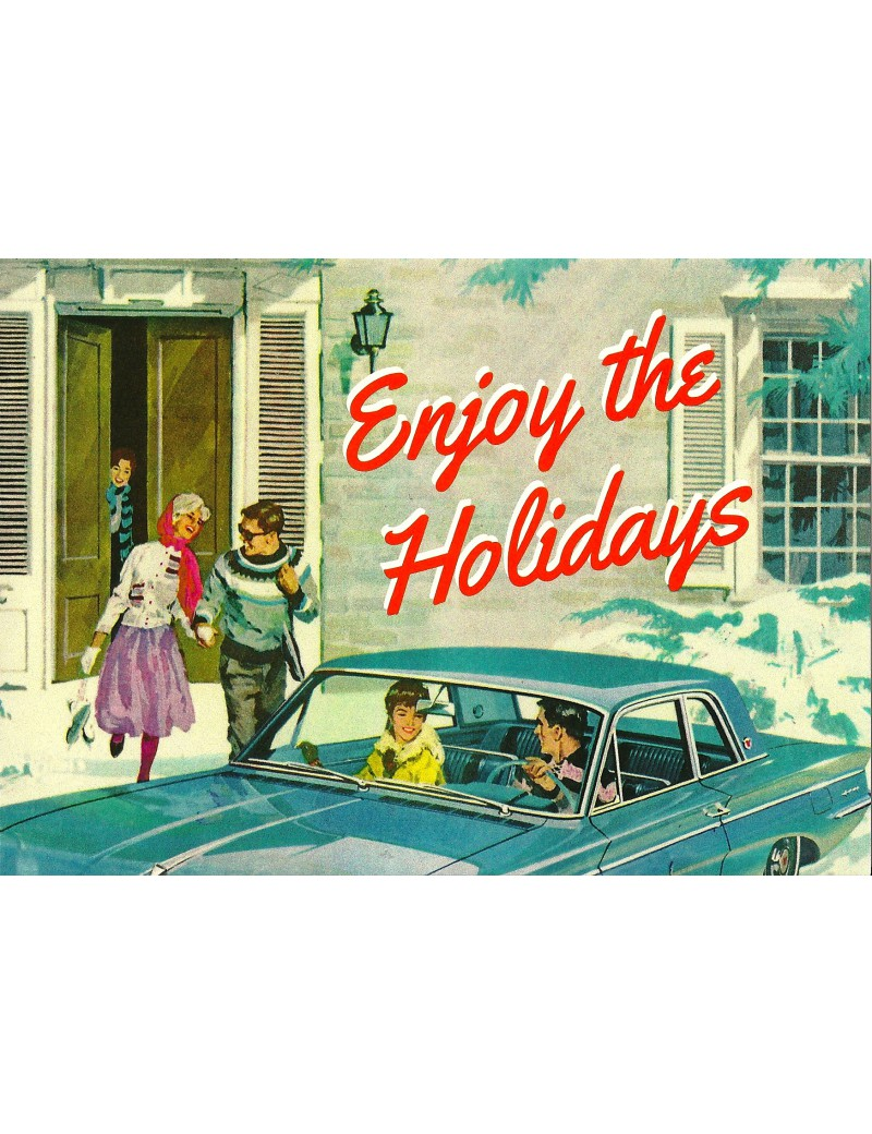 kaart 'Enjoy the holidays'