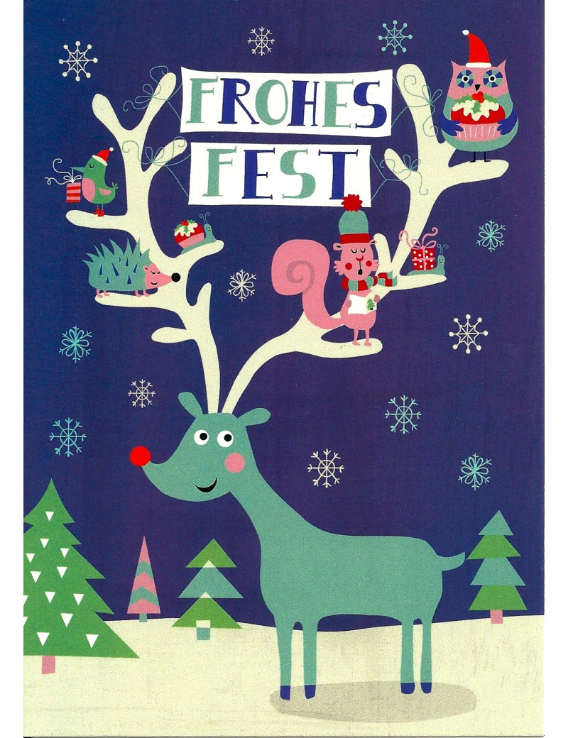 kaart 'Frohes Fest'