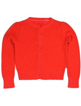 fluffy cardigan 'Dark Orange' (98/104) - Bengh Per Principesse