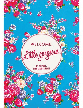 kaart 'Welcome little gorgeous - Flowers'