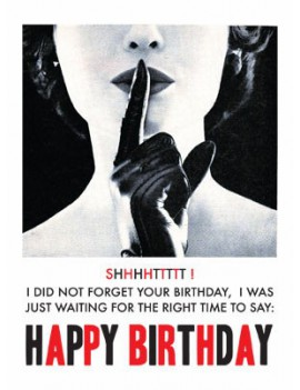 kaart happy birthday 'did not forget'