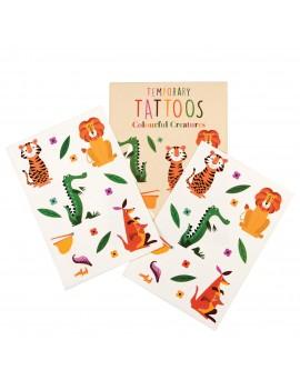 Tijdelijke tattoos wilde dieren