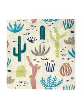 Servetten met cactussen