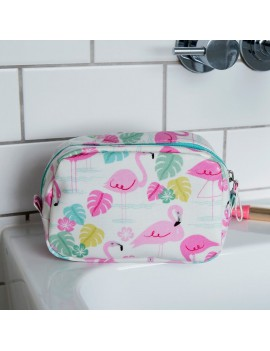 Flamingo make-up tas
