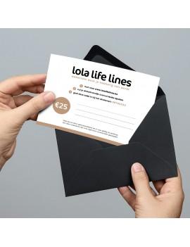 Lola Life Lines cadeaubon 25 euro