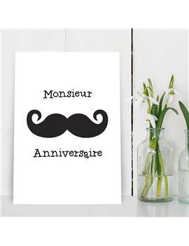 """Verjaardagskaart """"Monsieur Anniversaire"""""""