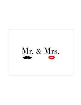 """Wenskaart """"Mr & Mrs"""""""