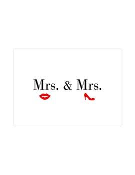"Wenskaart ""Mrs & Mrs"""