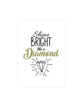 """Wenskaart """"Shine Bright"""""""