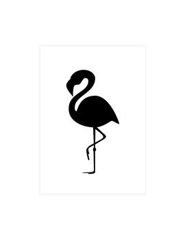 "Wenskaart ""Flamingo Black"""