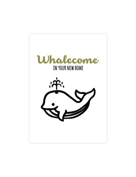 "Wenskaart ""Whalecome"""