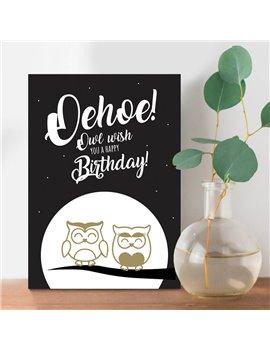 """Verjaardagskaart """"Oehoe"""""""