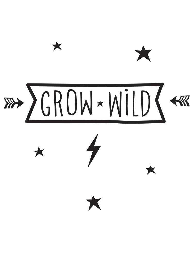 muurstickers 'Grow Wild' - A Little Lovely Company