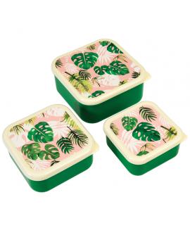 Palmbladeren snackdoosjes (set van 3)