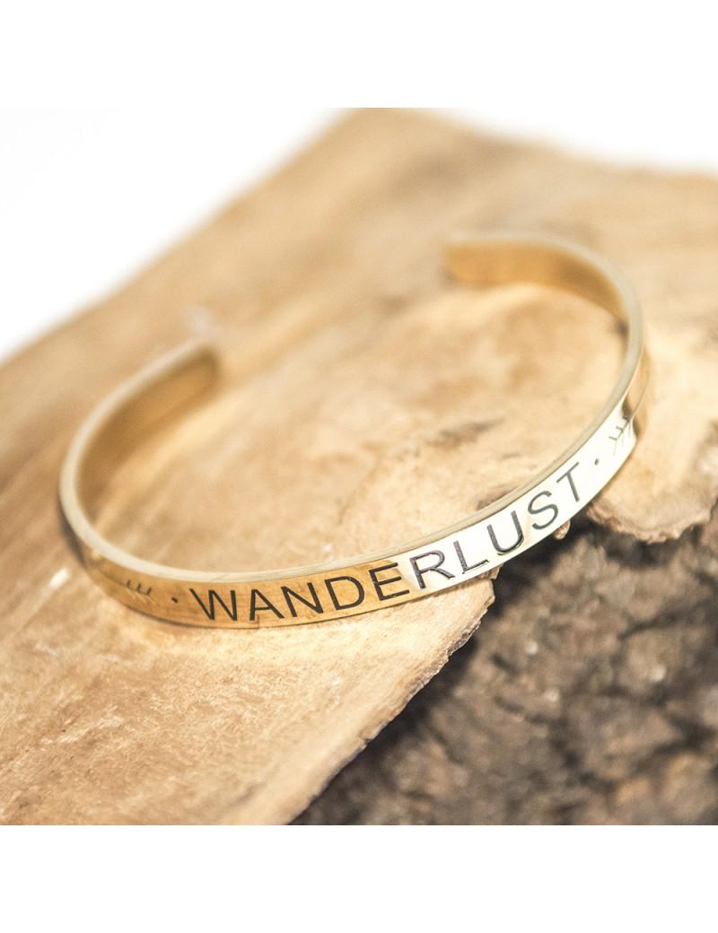 Wanderlust armband goud
