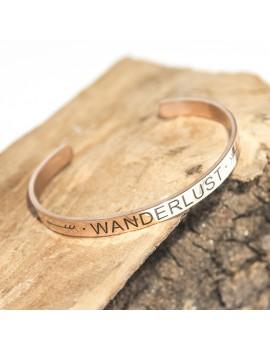 Wanderlust armband rose