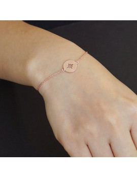 Wanderlust armband windroos rose