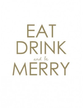 kaart 'Eat drink and be merry'