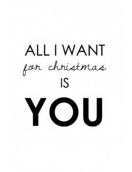 kaart 'All I want for Christmas is you'