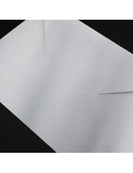 "Luxe zilveren envelop ""Shiny silver"""