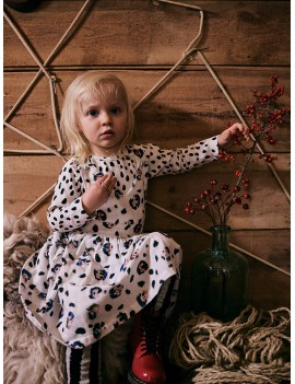 Winterkleedje luipaard print - Noe Zoe