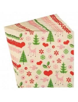 Stijlvolle Kerst servietten