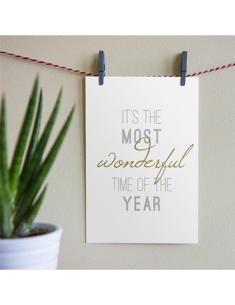 """Kerstkaart """"Most wonderful time"""""""
