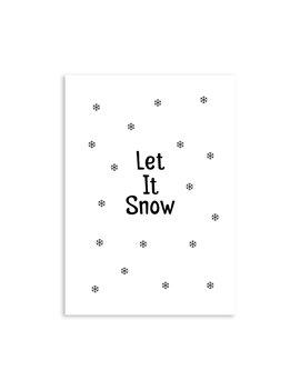 """Kerstkaart """"Let It Snow"""" Sneeuwvlokken"""