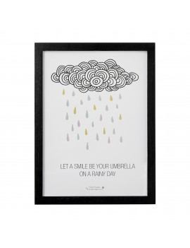 kader 'Let a smile be your umbrella on a rainy day'  - Bloomingville