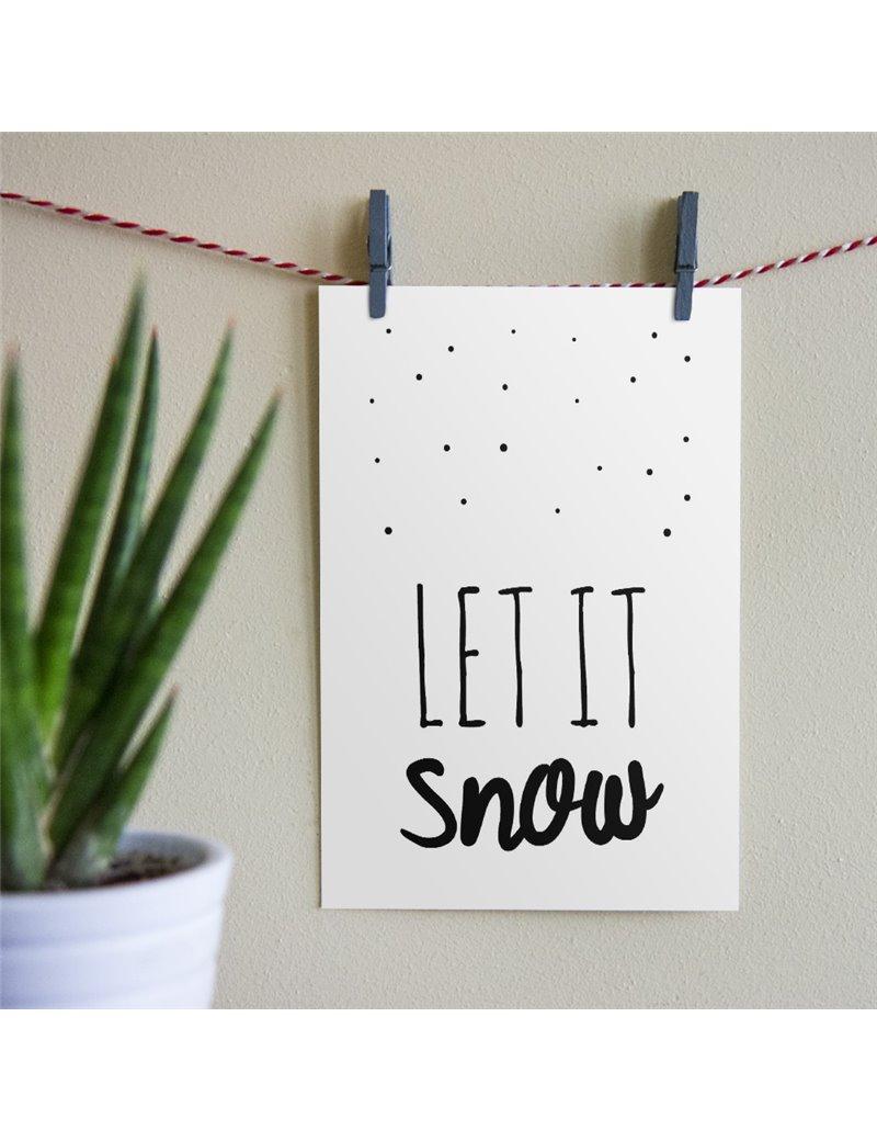 """Kerstkaart """"Let It Snow"""""""